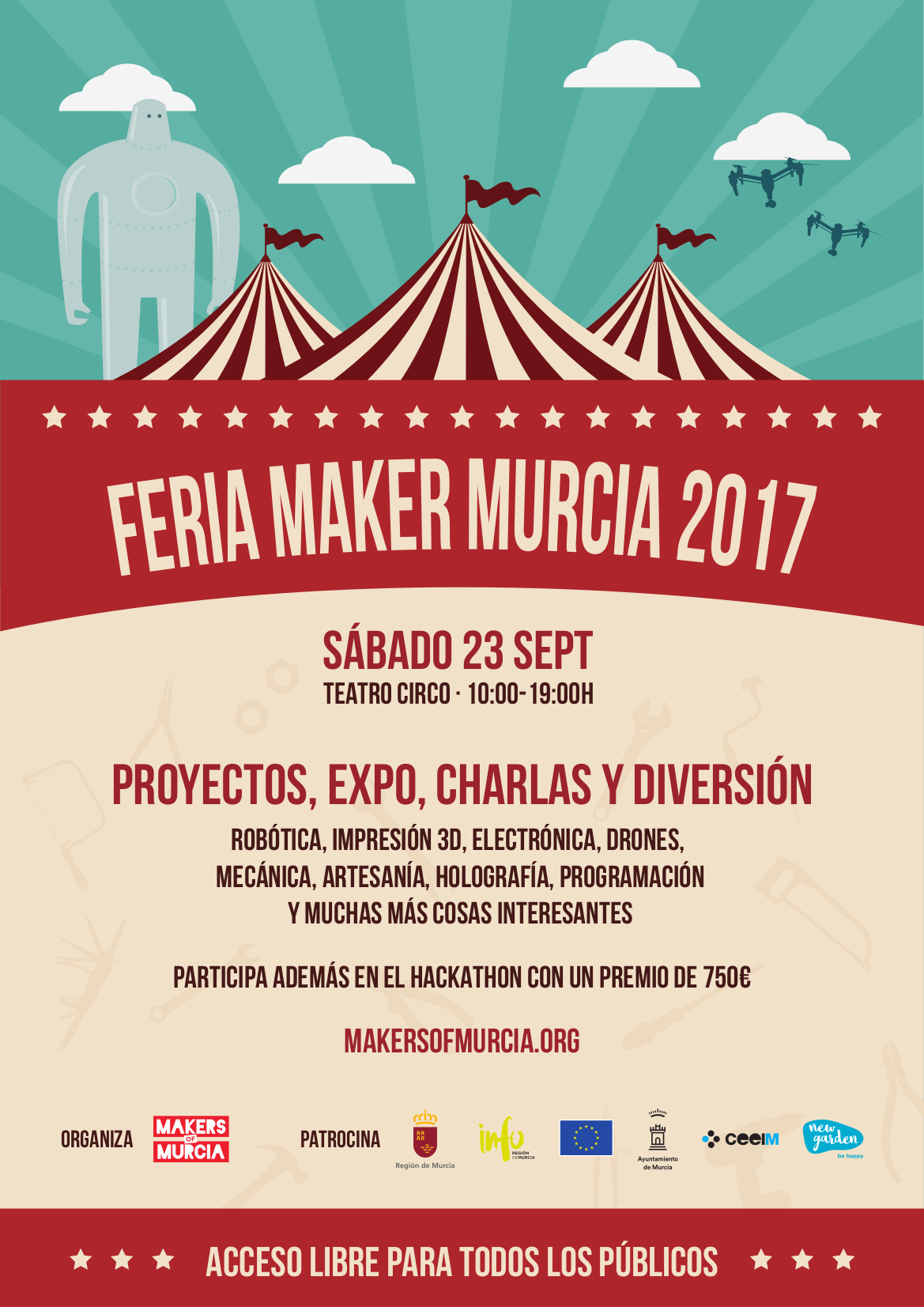 Cartel reducido maker faire murcia 17